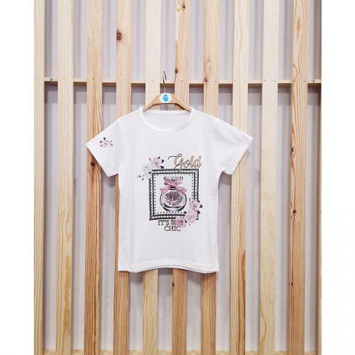bela majica s tiskom